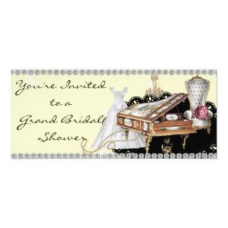 """Bridal Shower Invitation Grand Piano Theme 4"""" X 9.25"""" Invitation Card"""