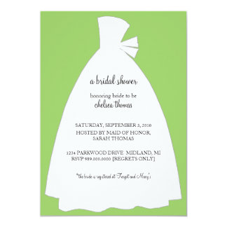 Bridal Shower Invitation {Kiwi Green}