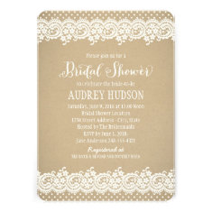 Bridal Shower Invitation | Lace and Kraft