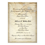 "Bridal Shower Invitation Lace and Pearls 5"" X 7"" Invitation Card"