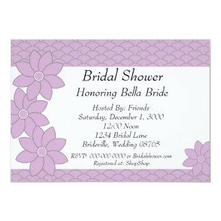 Bridal Shower Invitation lavender and grey floral