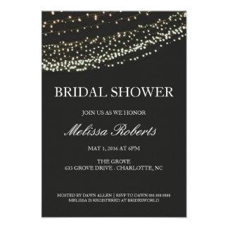 Bridal Shower Invitation Lit Night