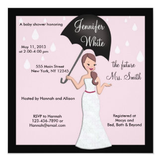 Bridal Shower Invitation Modern / Cute Bride
