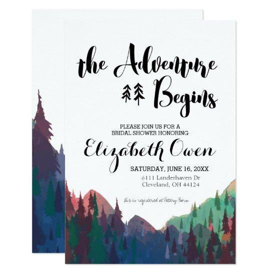 Bridal Shower Invitation - Mountain Theme