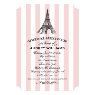 Bridal Shower Invitation | Paris Eiffel Tower