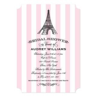 "Bridal Shower Invitation | Paris Eiffel Tower 5"" X 7"" Invitation Card"