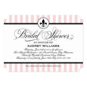 bridal shower invitation paris france theme