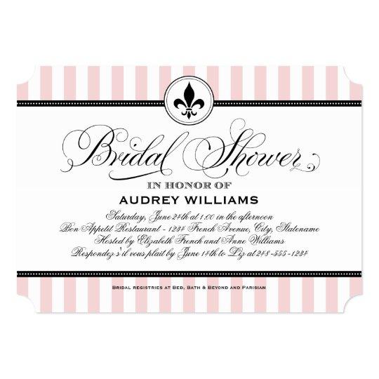 Bridal Shower Invitation | Paris France Theme