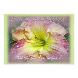 Bridal Shower Invitation Pink Daylily Blossom