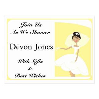 Bridal Shower Invitation Post Card