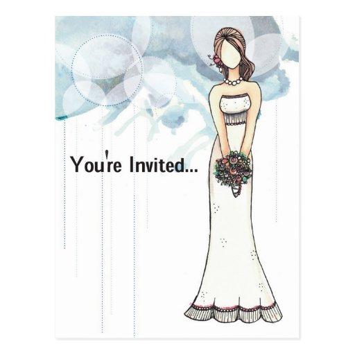 Bridal Shower invitation Postcard