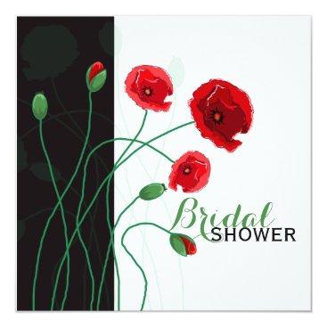 Bridal Shower Invitation | Red Poppies