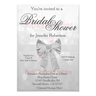 Bridal Shower Invitation (replace background)