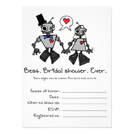 Bridal Shower Invitation Robots