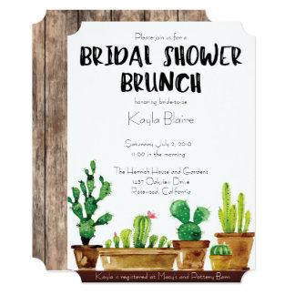 Bridal Shower Invitation - Rustic, Brunch
