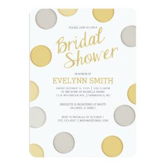 Bridal Shower Invitation | Silver Gold Bubbles