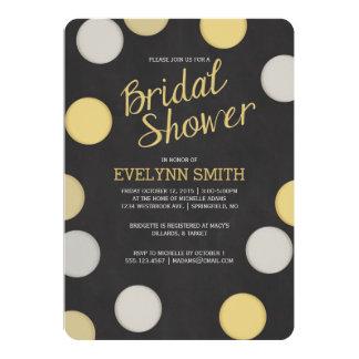 Bridal Shower Invitation | Silver Gold Chalkboard