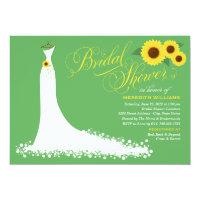 Bridal Shower Invitation | Sunflower Wedding Gown (<em>$2.01</em>)