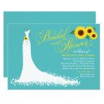 Bridal Shower Invitation   Sunflower Wedding Gown