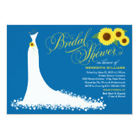 Bridal Shower Invitation   Sunflower Wedding Gown (<em>$2.01</em>)