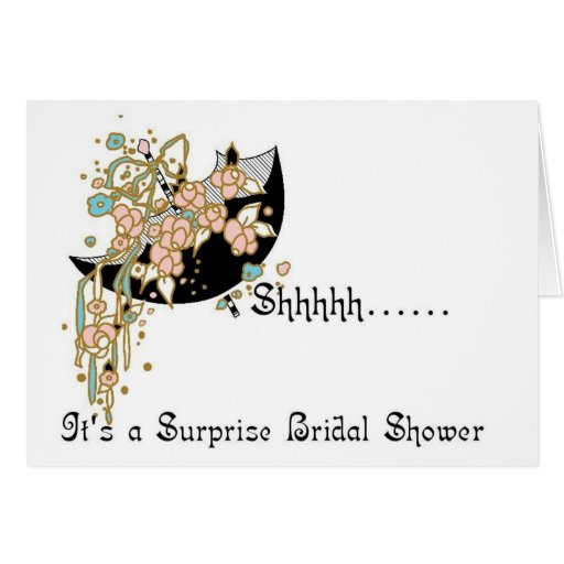 bridal shower invitation surprise cards zazzle With surprise wedding shower