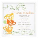 """Bridal Shower Invitation - Tea 5.25"""" Square Invitation Card"""
