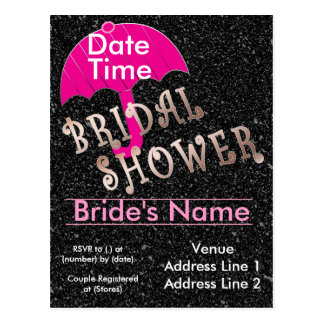 Bridal Shower Invitation Template Postcard