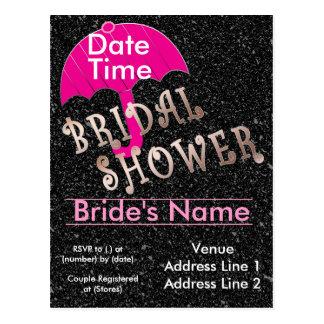 Bridal Shower Invitation Template Postcard