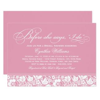 Bridal Shower Invitation   Vintage Floral Lace