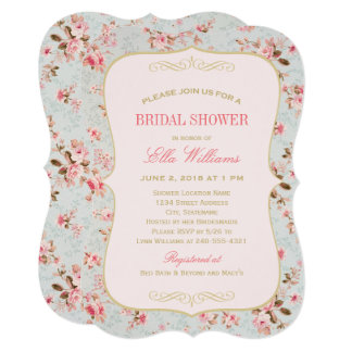 Bridal Shower Invitation   Vintage Garden Party