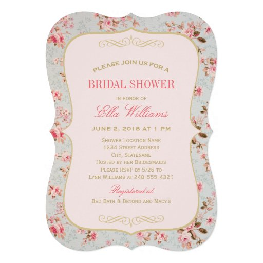 Bridal Shower Invitation | Vintage Garden Party