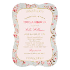 Bridal Shower Invitation | Vintage Garden Party at Zazzle