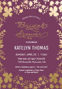 Purple bridal shower invitations zazzle bridal shower invitation vintage purple gold invitation filmwisefo