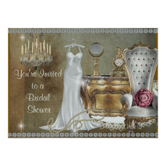 BRIDAL SHOWER INVITATION VINTAGE Wallpaper