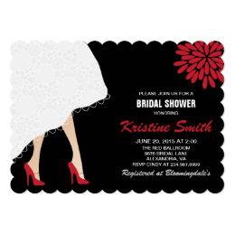 High heel shoes bridal shower invitations announcements zazzle bridal shower invitation w red high heel shoes filmwisefo Images