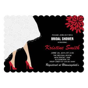 High heel shoes bridal shower invitations announcements zazzle bridal shower invitation w red high heel shoes filmwisefo
