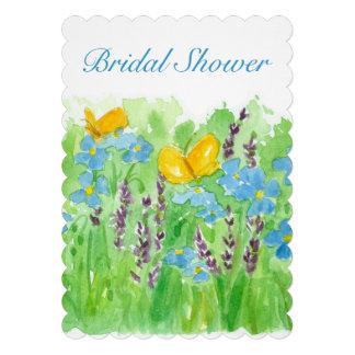 Bridal Shower Invitation Watercolor Wildflowers