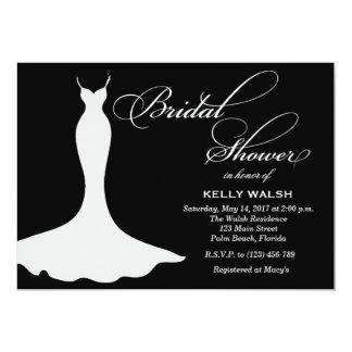 Bridal Shower Invitation Wedding Gown Elegant