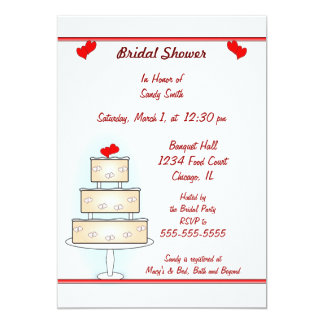 Bridal Shower Invitation with Cake