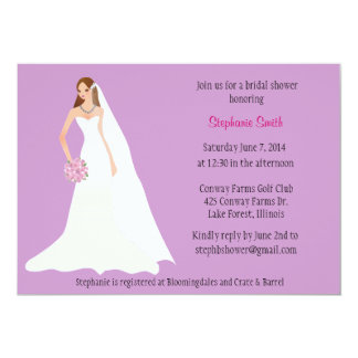 Bridal Shower invitation with illustrated bride
