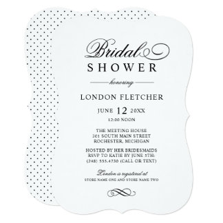 Bridal Shower Invitations | Black Classic Elegance