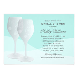 Bridal Shower Invitations | Cheers Wine Glasses