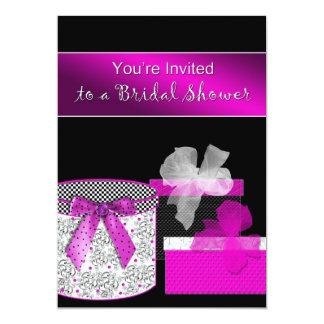 Bridal Shower Invitations - Fuschia and Black