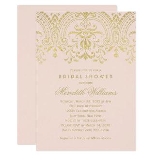 Bridal Shower Invitations | Gold Vintage Glamour