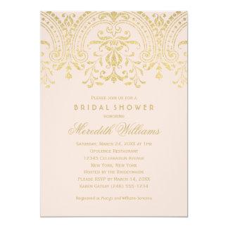 Bridal Shower Invitations   Gold Vintage Glamour