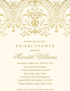 60 off vintage bridal shower invitations shop now to save zazzle bridal shower invitations gold vintage glamour filmwisefo