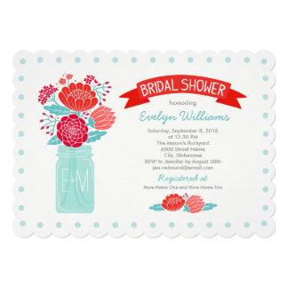 Bridal Shower Invitations   Mason Jar Bouquet