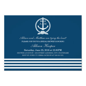 Bridal Shower Invitations | Nautical Stripes Theme 5