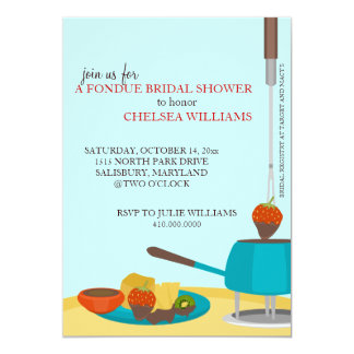 Bridal Shower Invitations or Fondue Party