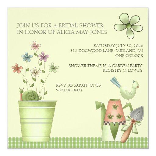 bridal shower invitations or garden party event zazzle